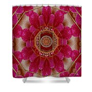 The Sacred Orchid Mandala Shower Curtain