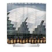 The Sage Building Shower Curtain