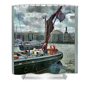 The Sailing Barge Lady Daphne Shower Curtain