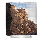 The Sandstone Cliffs Of The Wadi Rum Shower Curtain