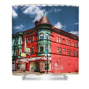 The Sauter Building Shower Curtain