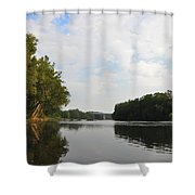 The Schuylkill River At West Conshohocken Shower Curtain