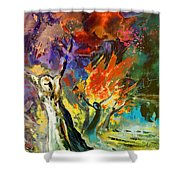 The Scream 02 Shower Curtain