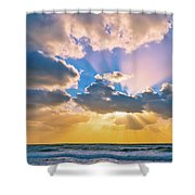 The Sea In The Sunset Shower Curtain