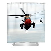 The Sea King Helicopter And The Agusta Shower Curtain