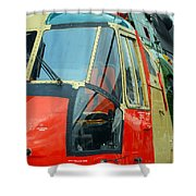 The Sea King Helicopter Used Shower Curtain