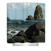 The Sea Of Sicily Shower Curtain