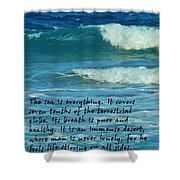 The Sea Poster Shower Curtain
