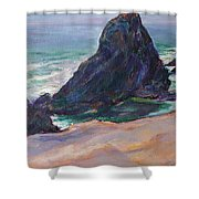 The Seal Rock March Shower Curtain