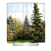 The Season Shower Curtain