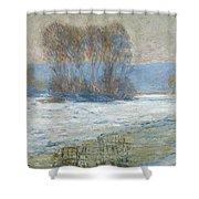 The Seine At Bennecourt Shower Curtain