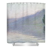 The Seine At Port Villez Shower Curtain by Claude Monet