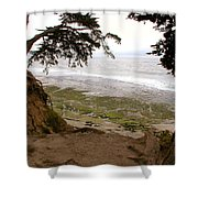 The Sentinels View Of The Ocean Shower Curtain