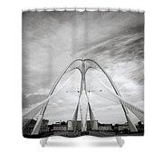 The Seri Wawasan Bridge In Purajaya In Malaysia Shower Curtain