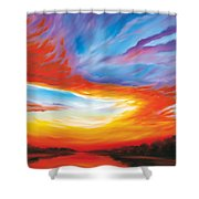 The Seventh Day Shower Curtain