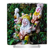 The Singing Gnomes Shower Curtain