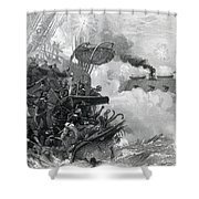 The Sinking Of The Cumberland, 1862 Shower Curtain