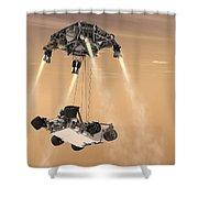 The Sky Crane Maneuver Shower Curtain
