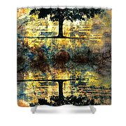 The Small Dreams Of Trees Shower Curtain by Tara Turner