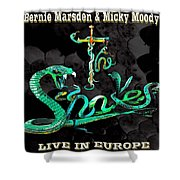 The Snakes Live In Europe Shower Curtain