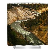 The Snaking Yellowstone Shower Curtain