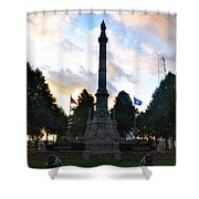 The Soldiers And Sailors Monument In Lafayette Square  Shower Curtain