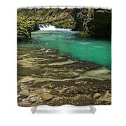 The Soteska Vintgar Gorge In Autumn Shower Curtain