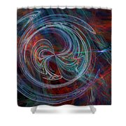 The Spark Of Life Shower Curtain