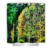 The Speckled Trees Shower Curtain