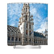 the Spire of  Brussels Shower Curtain