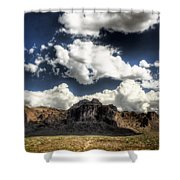 The Splendor Of The Superstitions Shower Curtain