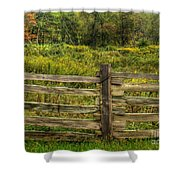 The Split Rail Meadow Shower Curtain by Benanne Stiens