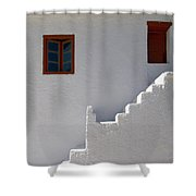 The Steps And The Window Shower Curtain