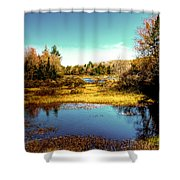 The Still Of Autumn In The Adirondacks Shower Curtain