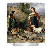 The Stone Breaker And His Daughter Shower Curtain
