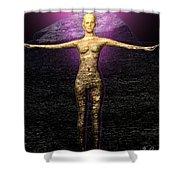 The Stoneborn Priestess Of Khufu Shower Curtain