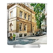 The Streets Of London Shower Curtain