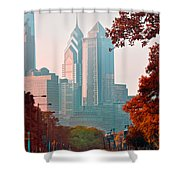The Streets Of Philadelphia Shower Curtain