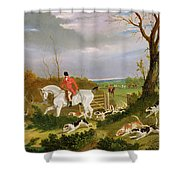 The Suffolk Hunt - Going To Cover Near Herringswell Shower Curtain
