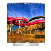 The Sun Centre Shower Curtain by Adrian Evans