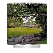 The Sundial Terrace, Glin Castle, Co Shower Curtain