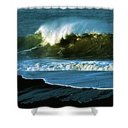 The Surf Motel Shower Curtain