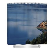 The Surface Of Crater Lake Shower Curtain