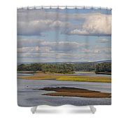 The Susquehanna River At Kingston Pa. Shower Curtain