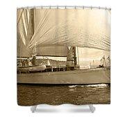 The Suva In Sepia Shower Curtain