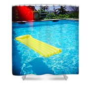 The Swimming Pool Shower Curtain