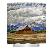The T. A. Moulton Barn In Grand Teton National Park Shower Curtain
