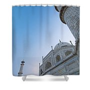 The Taj Mahal At Dusk, Low Angle View Shower Curtain