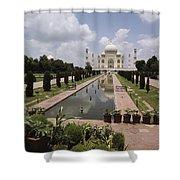 The Taj Mahal In Agra, India Shower Curtain