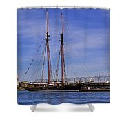 The Tall Ship Pacific Grace Based In Victoria Canada Shower Curtain by Louise Heusinkveld